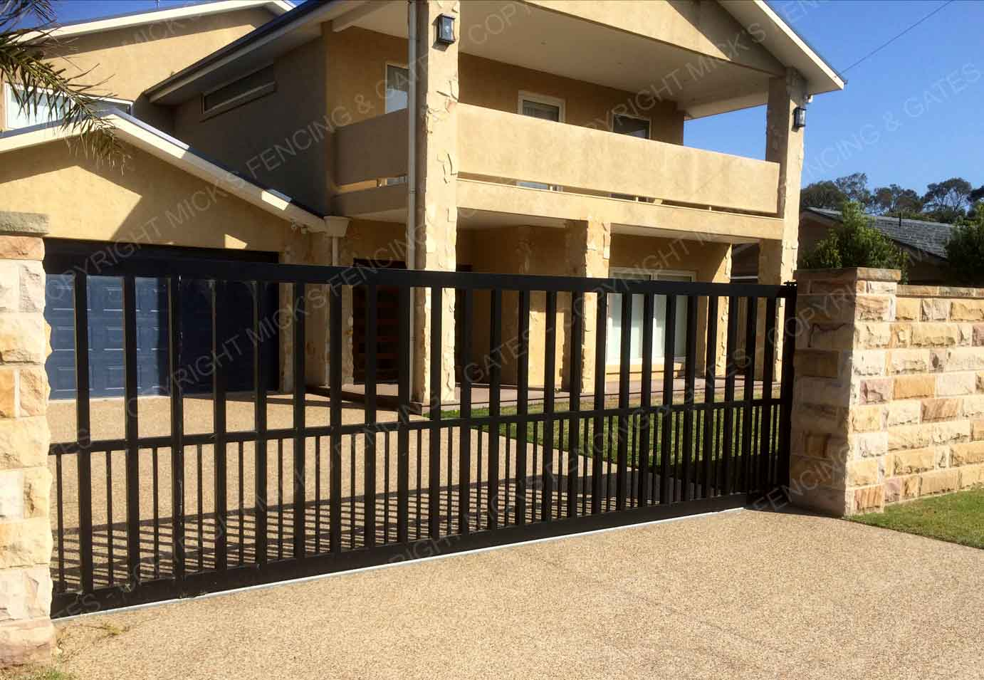 Automatic driveway gates baxter mick s fencing