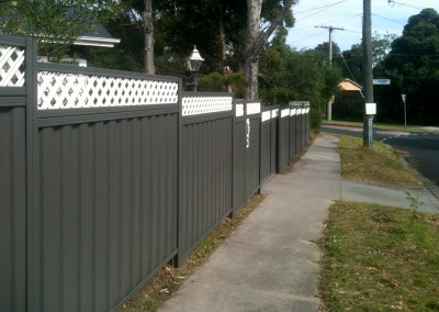 Colorbond Steel Fence with Lattice Plus Option