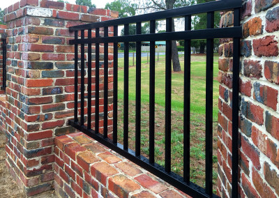 Brick Columns Fence with Steel Infills